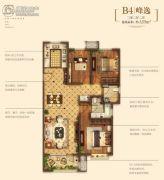 金地悦峰3室2厅2卫128平方米户型图