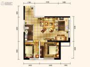 城关江南明珠2室2厅1卫73平方米户型图