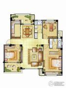 银亿璞园3室2厅2卫112平方米户型图