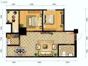 御笔城市广场2室1厅1卫78平方米户型图