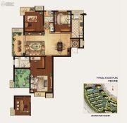 冠城大通蓝湾4室2厅2卫140平方米户型图
