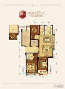 滨江德信东方星城3室2厅2卫121平方米户型图