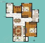 鸿泰・花漾城3室2厅1卫120平方米户型图