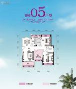锦富・汇景湾3室2厅2卫104平方米户型图