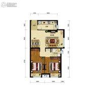 金地艺境2室2厅1卫79平方米户型图