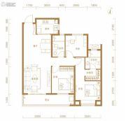 东湖金茂府3室2厅2卫117平方米户型图