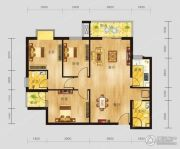恩施国际商贸城3室2厅2卫106平方米户型图