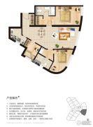 华地・远景3室2厅2卫142平方米户型图