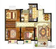 保利堂悦3室2厅1卫90--95平方米户型图
