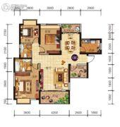 胜利雅苑4室2厅2卫119平方米户型图