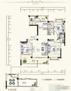 泰达・润景园3室2厅2卫138--139平方米户型图