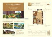 大悦城2室2厅1卫100平方米户型图