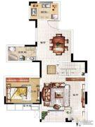 民安北郡3室2厅2卫138平方米户型图