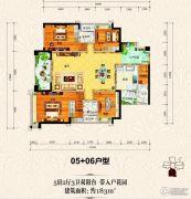 上城铂雍汇5室2厅3卫183平方米户型图