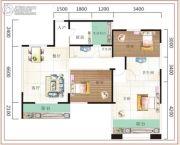 诚易佳和时代3室2厅2卫106平方米户型图