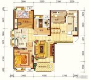 海宏江南壹号4室2厅2卫128平方米户型图