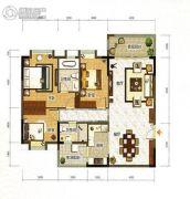 雅瑶绿洲3室2厅2卫138平方米户型图