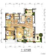 绿地国际花都4室2厅1卫0平方米户型图