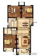 中粮鸿云3室2厅1卫89平方米户型图