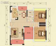 恒凯雅苑2室2厅1卫89平方米户型图