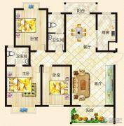 垠地中山城3室2厅2卫130--140平方米户型图