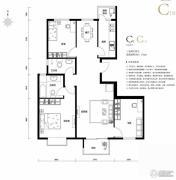 上林溪南区3室2厅2卫116平方米户型图