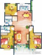 上书房3室2厅2卫139平方米户型图