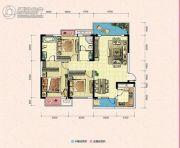 凯富南方鑫城3室2厅2卫111平方米户型图
