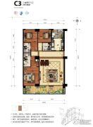 海碧台3室2厅2卫219平方米户型图