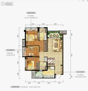 万科金域华府3室2厅2卫78--97平方米户型图