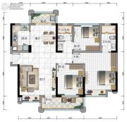 华发・又一城3期3室2厅1卫110平方米户型图