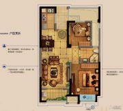 金科财富商业广场2室2厅1卫78平方米户型图