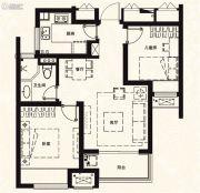 万科城2室2厅1卫75平方米户型图