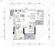 富力现代广场3室2厅1卫97平方米户型图