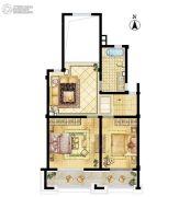 招商学府18723室2厅2卫0平方米户型图