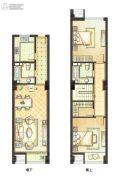 恒隆国际公寓2室2厅2卫69平方米户型图