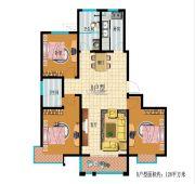 龙都名城3室2厅2卫0平方米户型图