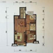 金地锦城2室2厅1卫88平方米户型图