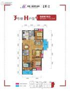 美联联邦生活区二期城仕4室2厅2卫136平方米户型图