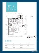 天朗美域3室2厅2卫121平方米户型图