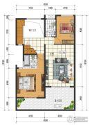 闲情偶寄4室2厅3卫105平方米户型图
