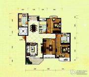 滨河国际3室2厅2卫141平方米户型图