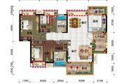 金穗・悦景台3室2厅2卫120平方米户型图
