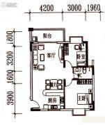 北岸晏城2室2厅1卫83平方米户型图