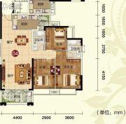 天鹅湾2室2厅1卫80平方米户型图