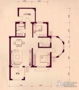 戴河林语2室2厅1卫90平方米户型图