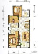 兰石豪布斯卡3室2厅2卫127平方米户型图