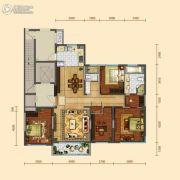 远洋大河宸章4室2厅2卫167平方米户型图