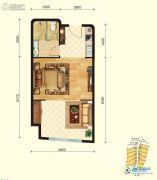 金梦海湾8号1室1厅1卫0平方米户型图