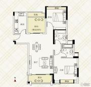 富力伯爵山2室2厅2卫86平方米户型图